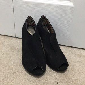 Black Heels Suede Material Excellent Condition